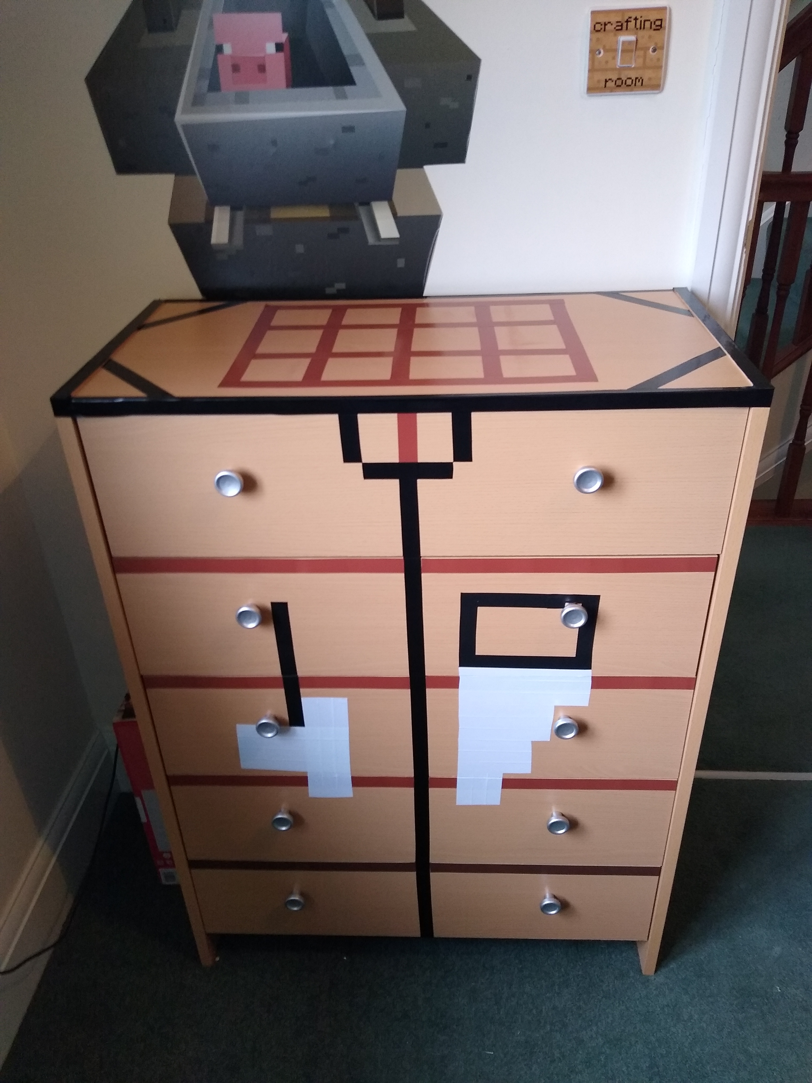 Minecraft Dresser Crafting Table Diy Jupiter Dann